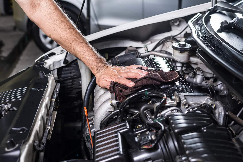 Очистка мотора авто